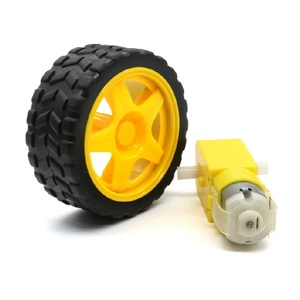 A Smart Car Chassis TT Motor / Robot Car Wheels DC Motor + Supporting Wheels for robot smart car