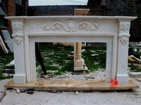 Freestanding fireplace surround