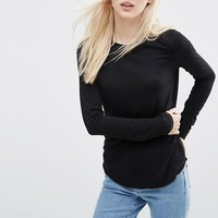 ATS194 Wholesale T-shirt Printing Plain Ladies Cotton T Shirts Slim Fit Long Sleeve Ladies Shirt