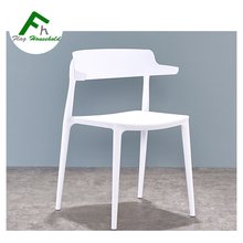 Cow Horn Wishbone Style scandinavian modern Plactic Dining Chairs