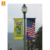 Street pvc Banners Installed on Existing Street Lamp Poles