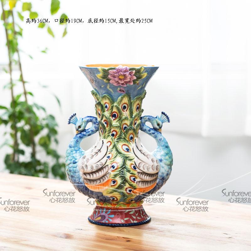Wedding Gift Vase: Mini Vase Wedding Gift Peacock Boughed Vase Decoration