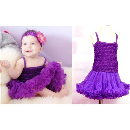 4ccb2252a Buy Baby Girl Dress Sleeveless Purple Rose Flower Pattern Cute Baby ...