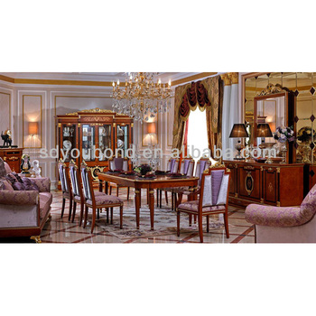 0038 Royal Beech Solid Wood Classic Luxury Dining Room Furniture