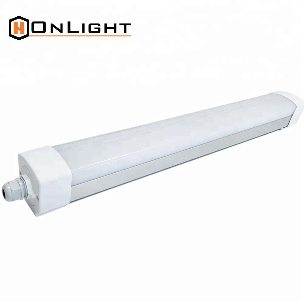 Suspended t8 waterproof fluorescent light fixtures ip65 1200mm teardrop light fixtures
