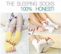 Super popular High quality Sleeping Socks Five Toe Socks Foot Alignment Treatment Socks
