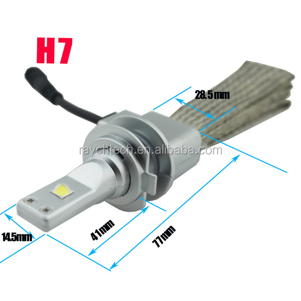 G6 Without Cooling Fan 80w 10000 Lumnes H7 Led Headlight Replace ...