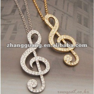 Hot Sale Fashion Jewelry, musical note Necklace