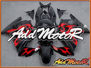 Addmotor Injection Mold Fairing Fit CBR600 F3 1997 1998 Plastic Black Red H3772