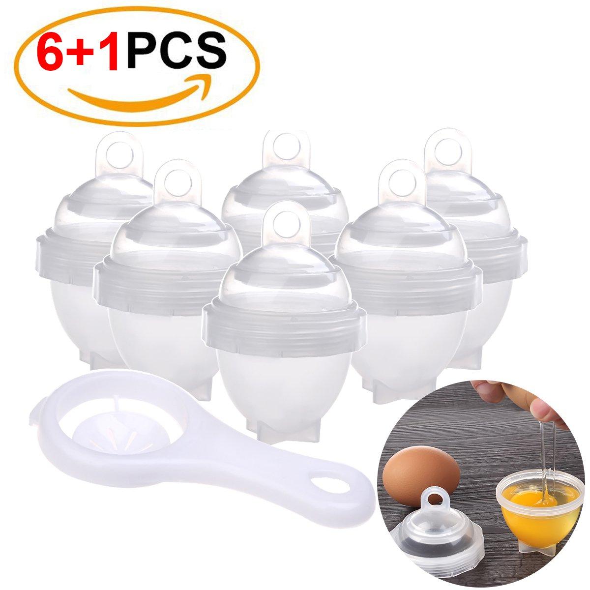 Egg Cooker with Egg Separator,As Seen On TV,Egg Boil,Hard Boiled,BPA-FREE Eggs Cooker Hard & Soft Maker No Shell (6+1 Pack)