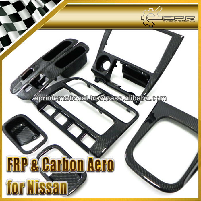 Para nissan 240sx s14 s14a s14k fibra de carbono interior conjunto 7 unids otros accesorios de 240sx carbon fiber interior