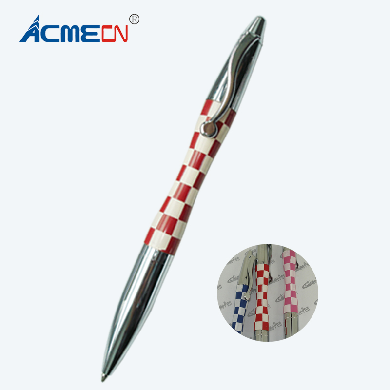 ACMECN Mini Branded Pen Square Pattern Design Ballpoint Pen Colorful Laser Logo Pens Fashion Cute Gifts for <strong>Promotion</strong>