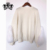 Popular Design Fox Fur Jumper  Knitted Popcorn Cashmere Sweater For Ladies