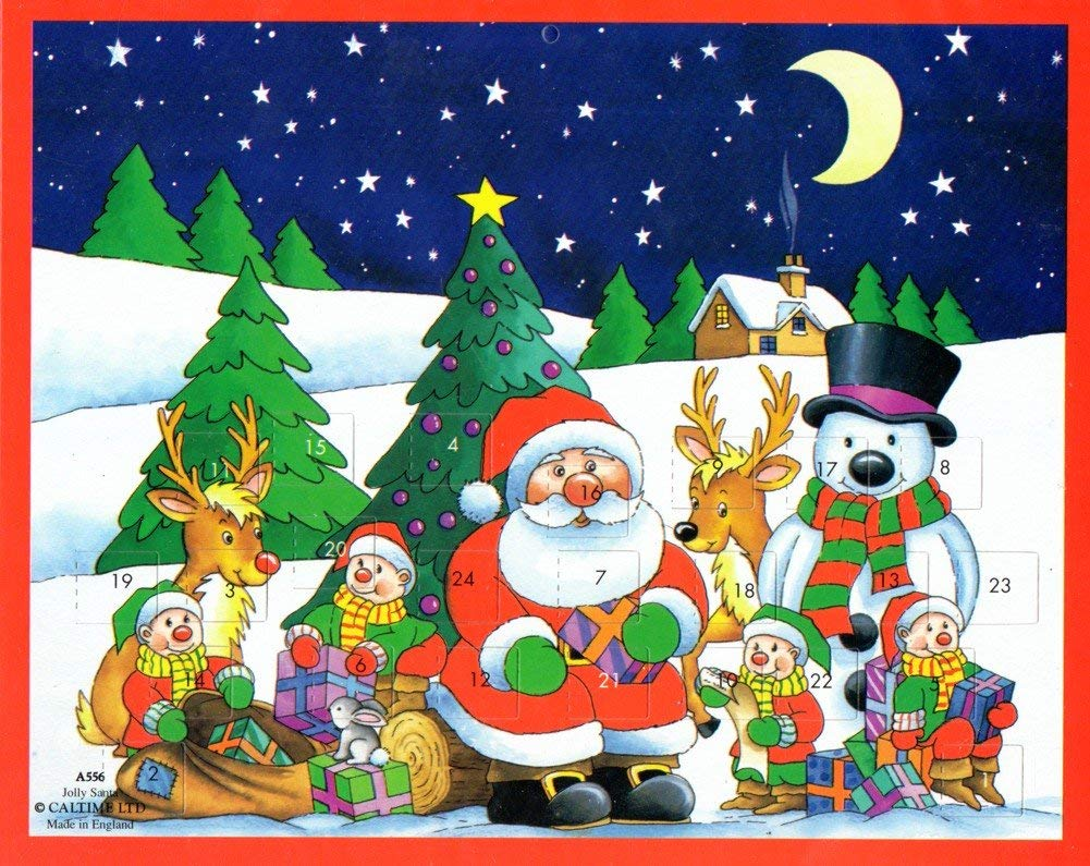 3 Advent Calendar with Stickers Year Santa Claus Town Frosty Snowman Browntrout