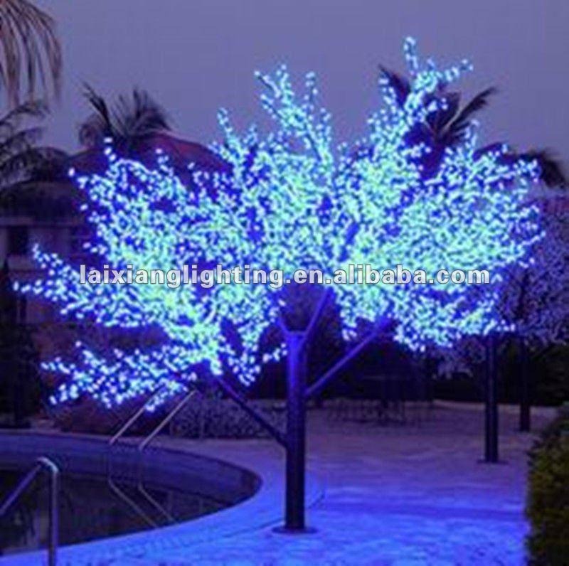 2012 led azul ramita luces del rbol de navidad decoracion - Arbol navidad led ...