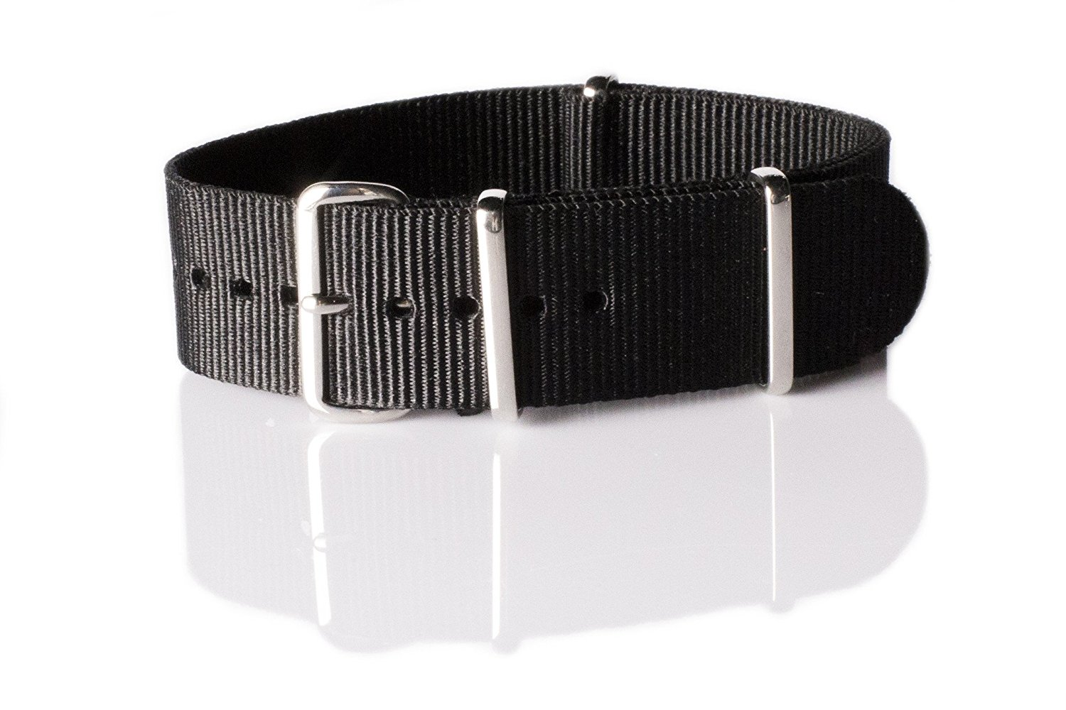 NATO G10 Nylon Premium Quality Replacement Watch Band Strap - 22mm / Black - FITS ALL WATCHES - (Military Army, J. Crew, Timex Weekender, Daniel Wellington, Urban Outfitters, Luminox, Seiko, Citizen, Blackout Watches, Victorinox Swiss Army, Rolex and more‎)