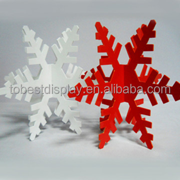 Hot sale customize acrylic plexiglass large projector snowflake, large snowflake decorations,large outdoor christmas decorations