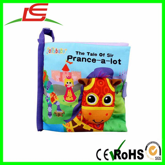 professional 3d baby washable plush cloth book