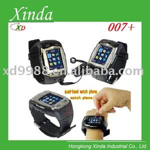 "007+ watch mobile phone with Pinhole camera Voice dialing 1.5"" touch screen"