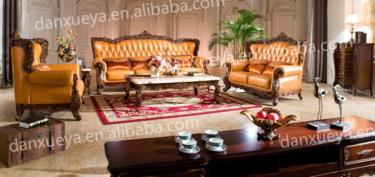 Luxury Classic European Sofa Set