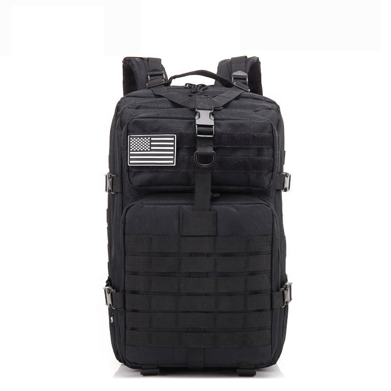 Waterproof Military Tactical Backpack Black 45L ,Custom Military Backpack Tactical Molle