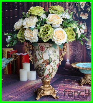 13 Heads Artificial Hibiscus Flowers Making For Flower Arrangements