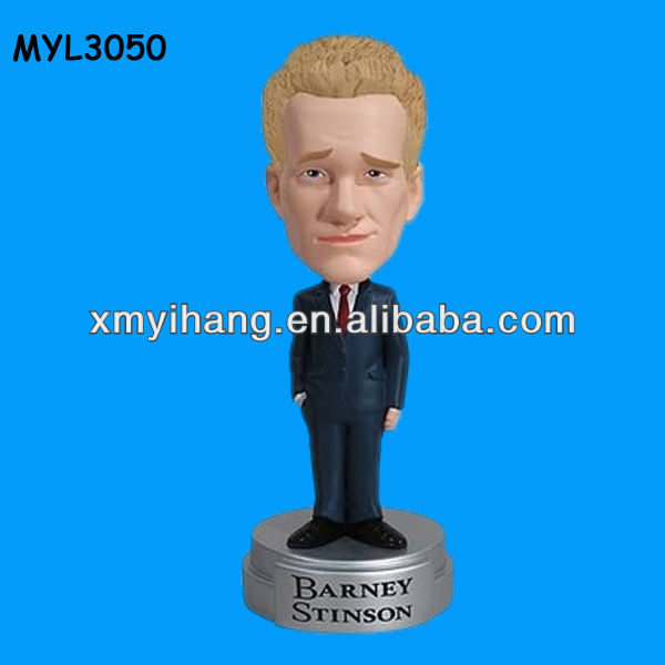 Barney Stinson How I Met Your Mother Talking polyresin tabletop bobble head toy