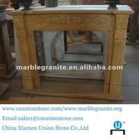 Chinese Yellow Nature Stone Fireplace Marble Fireplace