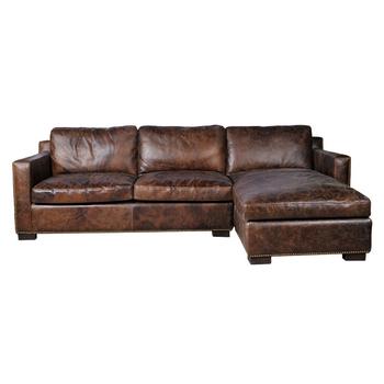 Rustic Sectional Corner Leather Sofa