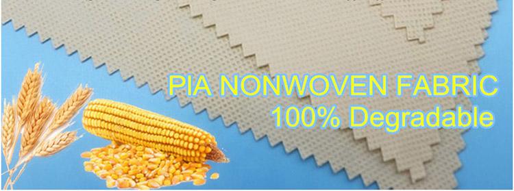 100% Biodégradable de Fiber de Maïs PLA Spunbond Non-Tissé Tissu
