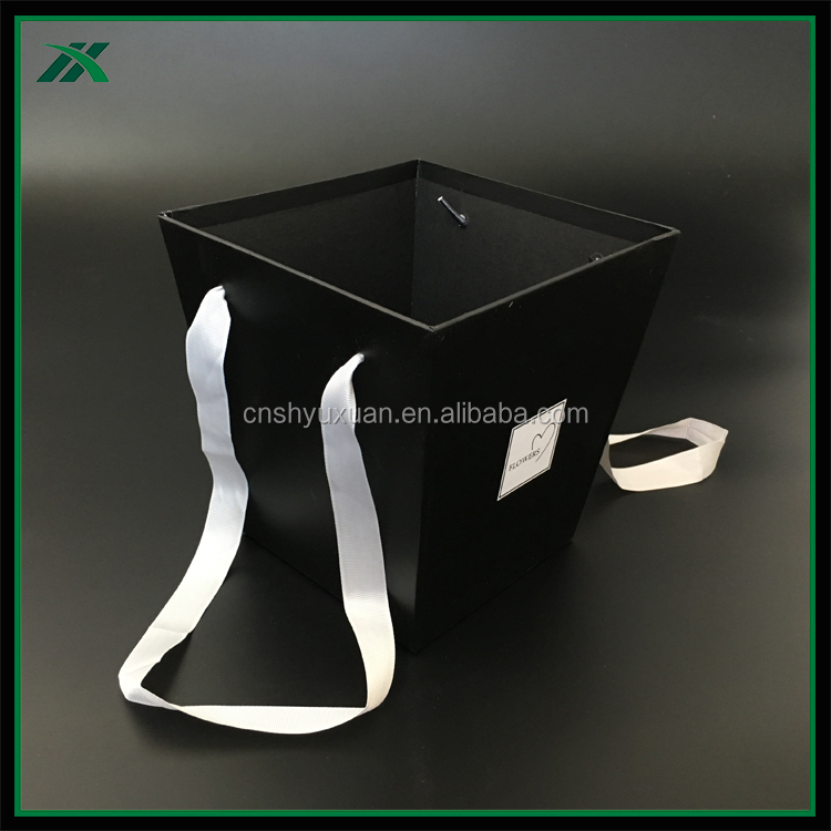 hard trapezoidal cardboard box for flower