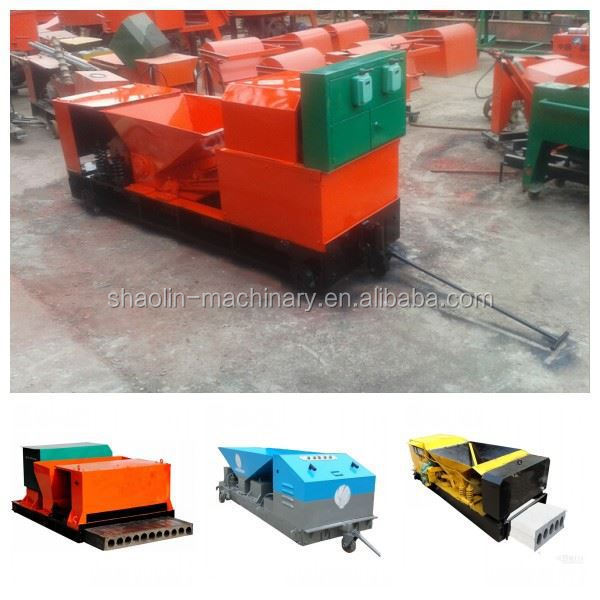 High density lightweight concrete wall panel forming machine with low noise