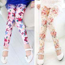 2aef37eb664c8 New arrive girl pants printing Flower girls leggings Toddler Classic  Leggings 2 13Ybaby girls leggings kids
