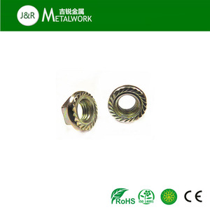 M10 M16 M20 brass hex head flange nut DIN6923