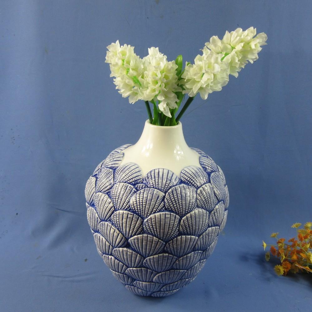 Home Decoration Ceramic Sea Shell Design Flower Vases