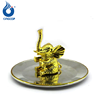 Gold Metal Elephant Ring Holder Jewelry Holder