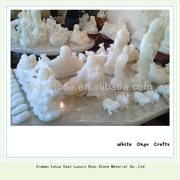 White onyx crafts,small crafts for gifts/home residencial