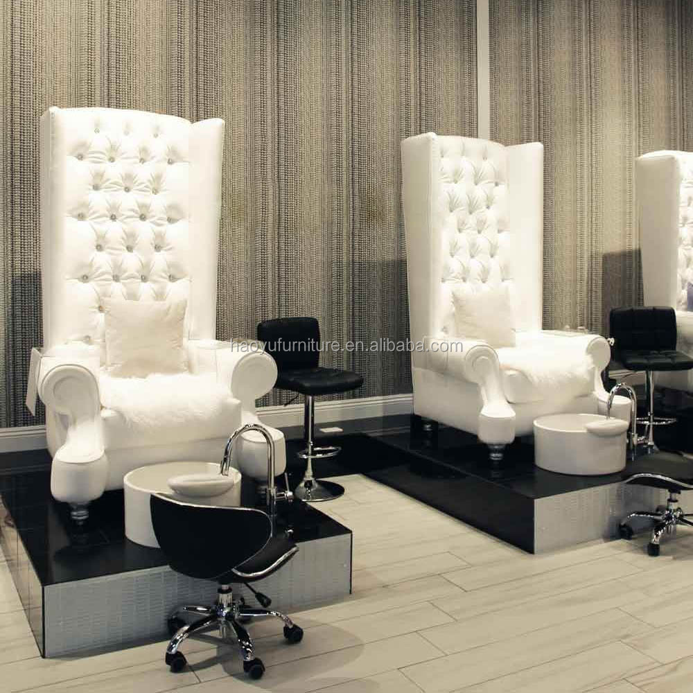 Pedicure chair plumbing installation chairs model for Nail salon benches