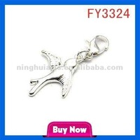 One Wing Design Pendant Solid Gold Jewelry Pendant