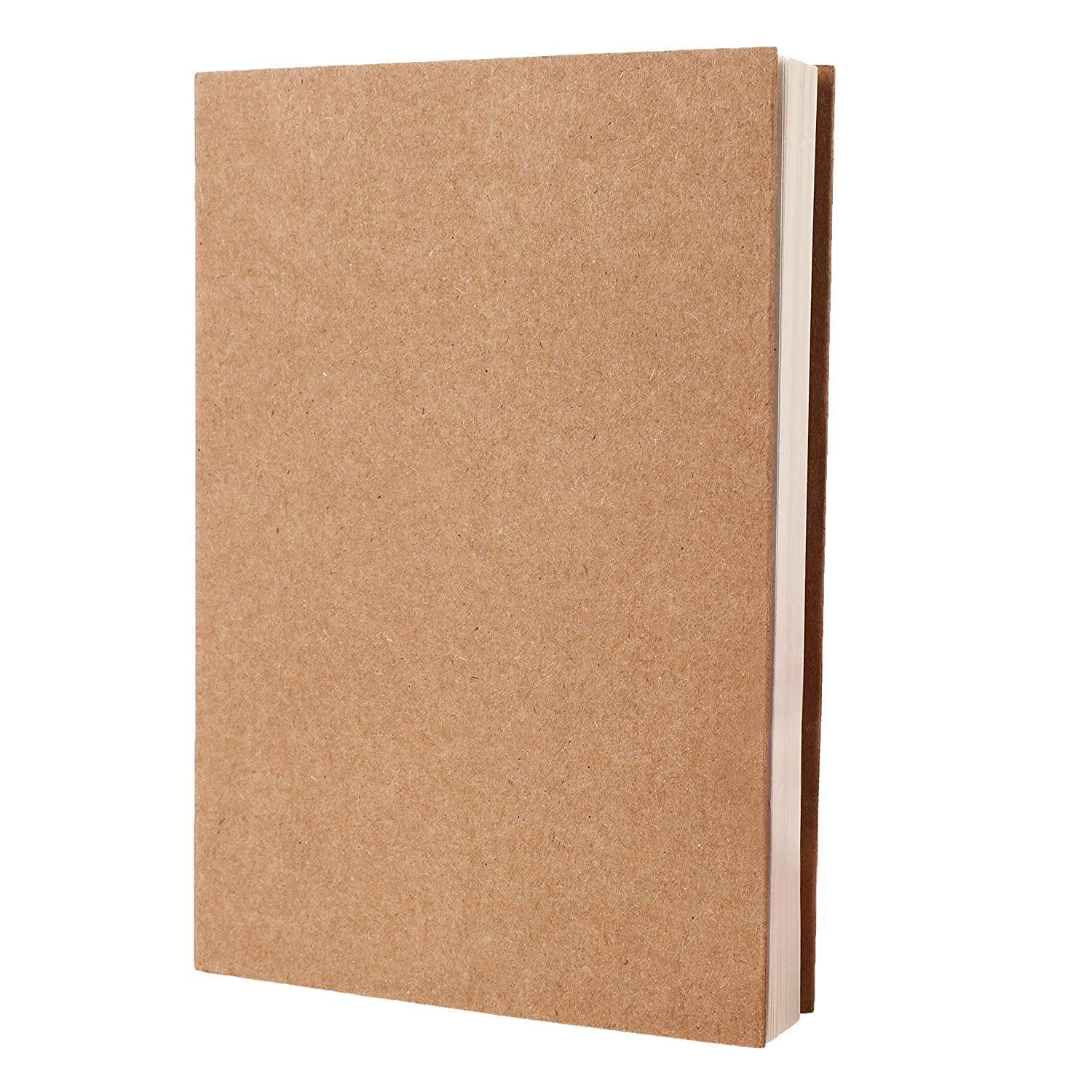 RIANCY Brown Paper Notebook Blank Kraft Cover Notebook Things To Do List Drawing Scrawl Notepad Travel Journal Sketchbook Diary Memo Book A5 (White Paper)