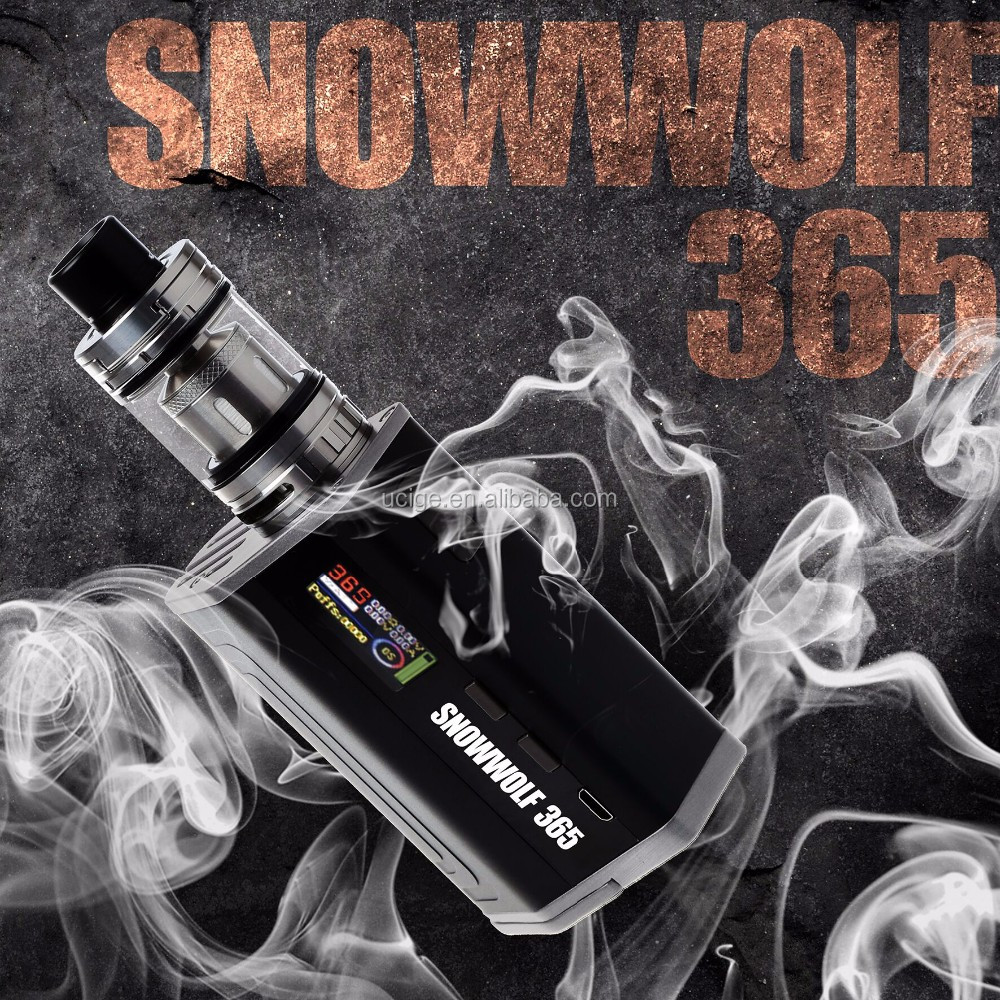 In stock Best Variable Voltage Ecig Snowwolf 365 used 3 pcs 18650 battery vv/vw sigelei snowwolf 365