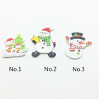 Natural wood material cute cartoon children's DIY creative gift snowman model button