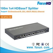350ft Shunxun SX-SPH4-100 HDMI 4 Way Splitter 100m Over HDBaseT, 4k2k Ultra HD Video/Audio Split 1 Source to Multi Play