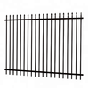 Garden corten powder coated galvanized tube steel fence panels and posts for sale