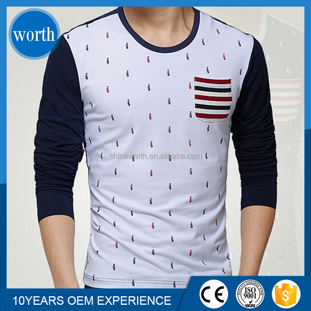 full sleeve allover prints 180gsm t-shirt with pocket