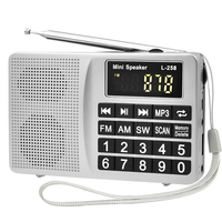 portable FM/SW/AM radio usb mini fm digital radio speaker pocket radio in speaker pc phone MP3 music player dj bass speaker