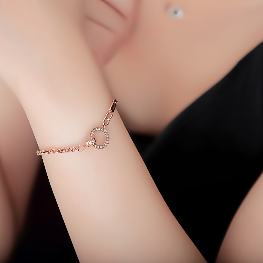 Wholesale Factory Price Stainless Steel Jewelry Silver Chain Twisty Bracelet