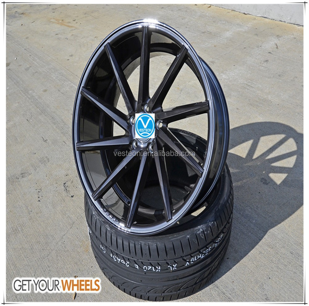 Popular curved spokes custom alloy wheels 16 17 18 19 inch