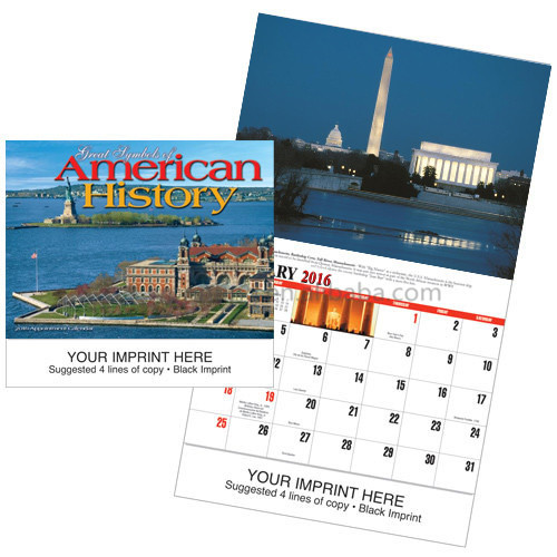 Customized monthly wall calendar table calendar printing