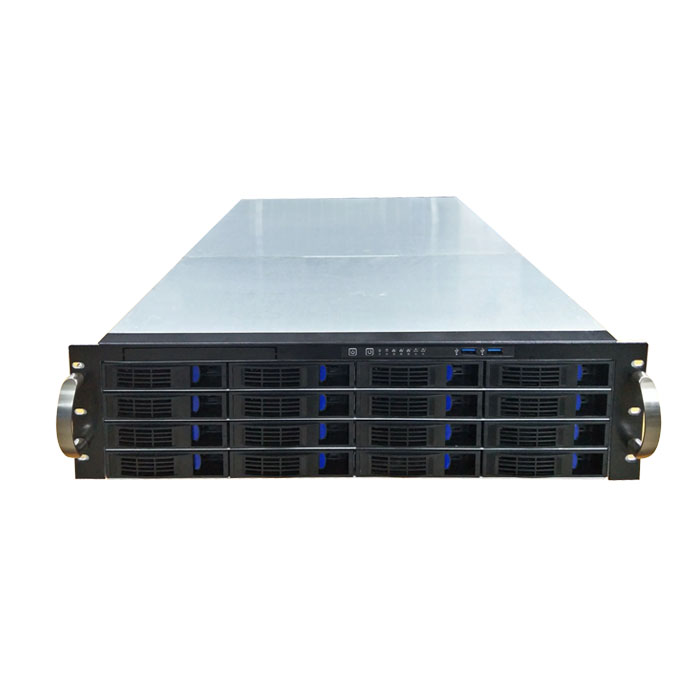 ED316H55-T3 3u server case with  16 HDD bays with 4xsata backplane and ATX rear window rack mount server case JBOD case